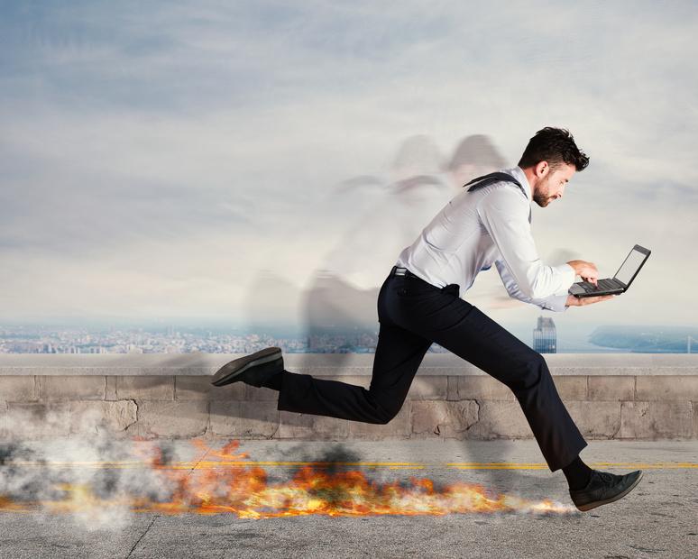 hohes Arbeitstempo verursacht Stress